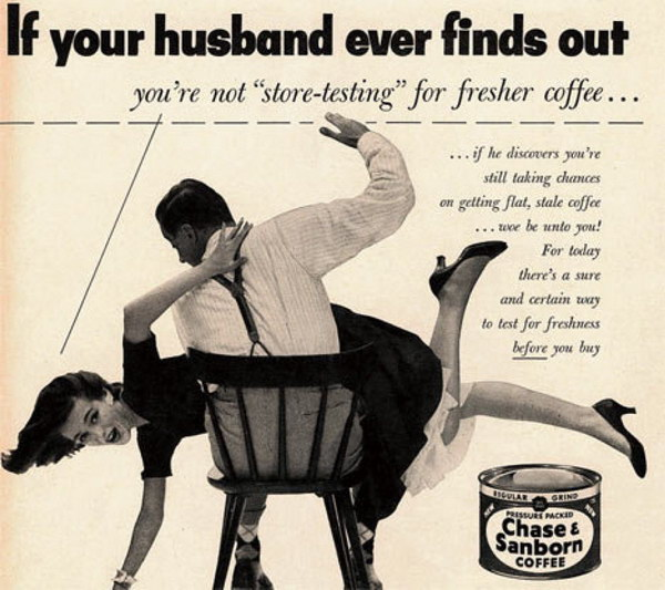 vintage funny ad chase sanborn coffee 50