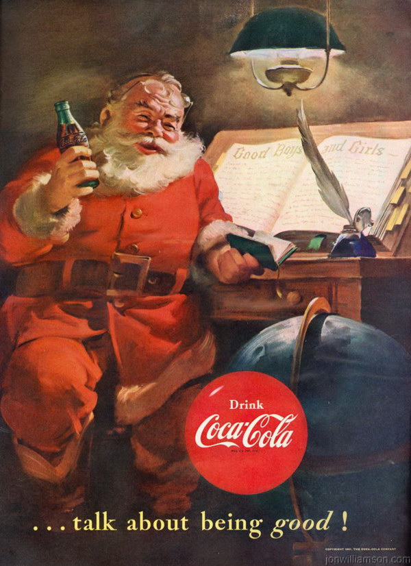 Coca Cola Gifts >> 50+ Beautiful Vintage Christmas Ads Showcase - Hative