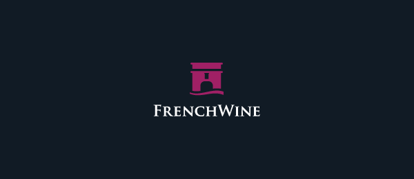 french wine logo castle 2