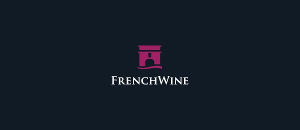 french wine logo castle 2