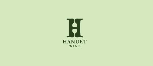 hanuet wine logo letter h 22