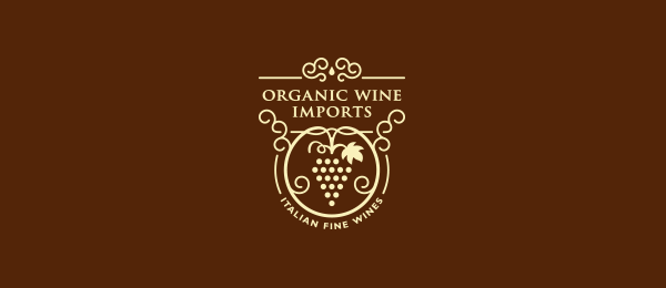 organic wine logo grape 19