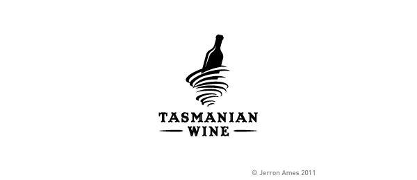 wine glasses logo tasmanian 10