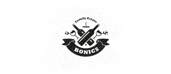 wine logo bonics family estate 17