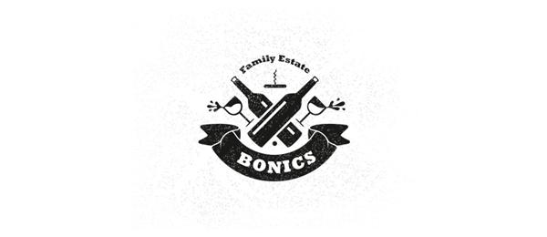 wine logo bonics family estate 17