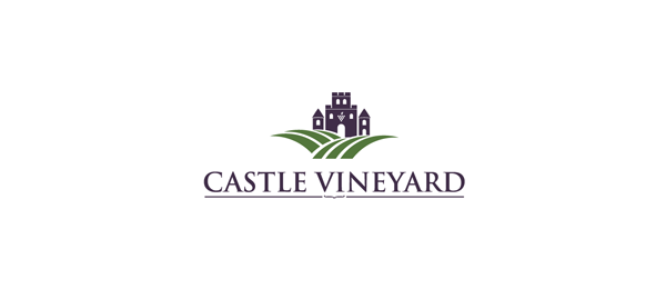 wine logo castle vineyard 50