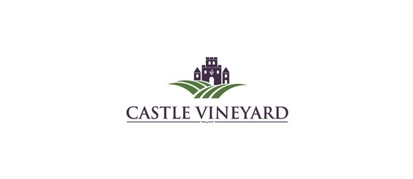 wine logo castle vineyard 50