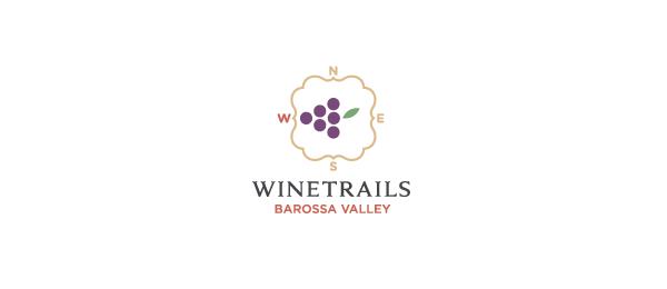 wine logo compass 26