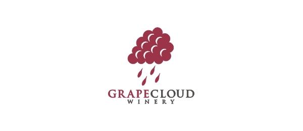 wine logo grape cloud 27
