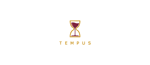 wine logo hourglass 16