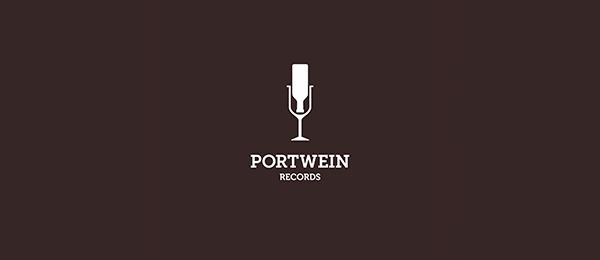 wine logo portwein records 32