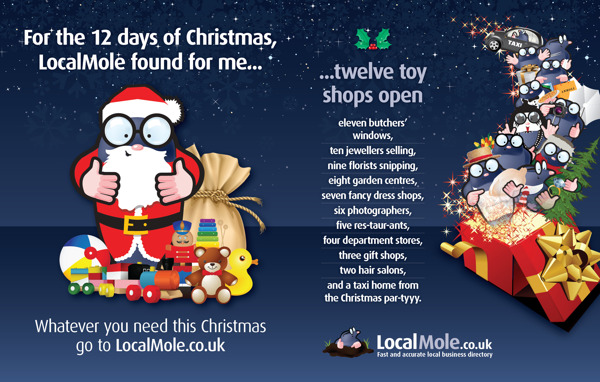 localmole christmas print advertising 43