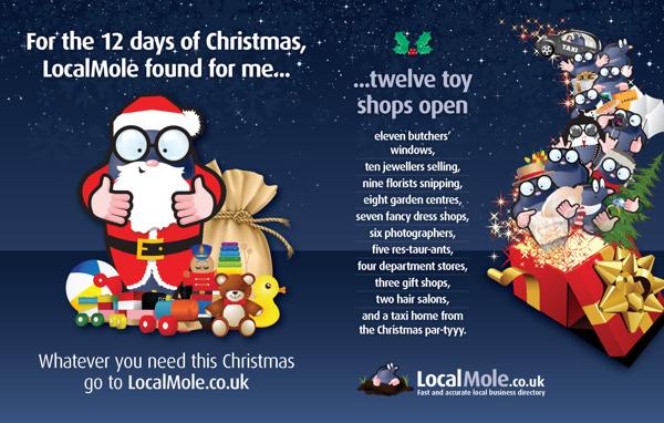 localmole christmas print advertising 43