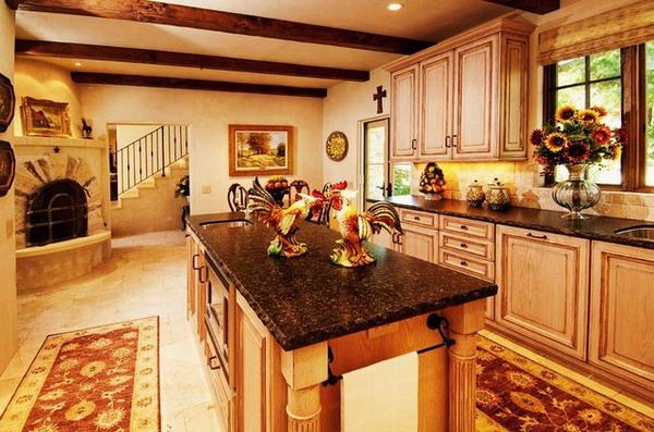 50 beautiful country kitchen design ideas for inspiration - Wandfarbe mediterran ...