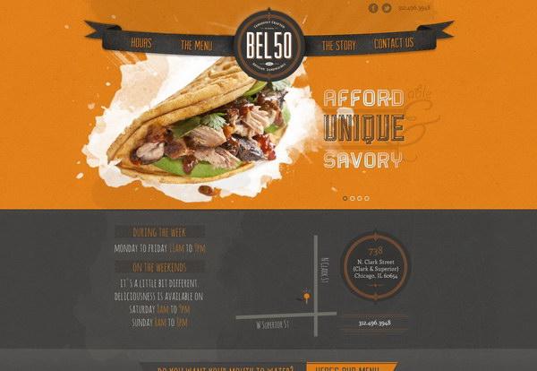 40 Beautiful Food Amp Restaurant Website Design Examples