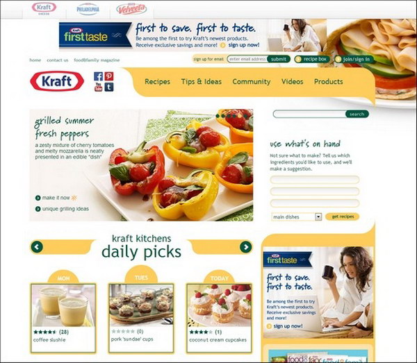 40 beautiful food restaurant website design examples hative food web design kraft recipes 37 forumfinder