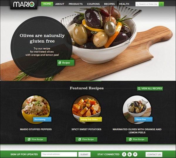 40 beautiful food restaurant website design examples hative restaurant web design mario foods 27 forumfinder Gallery