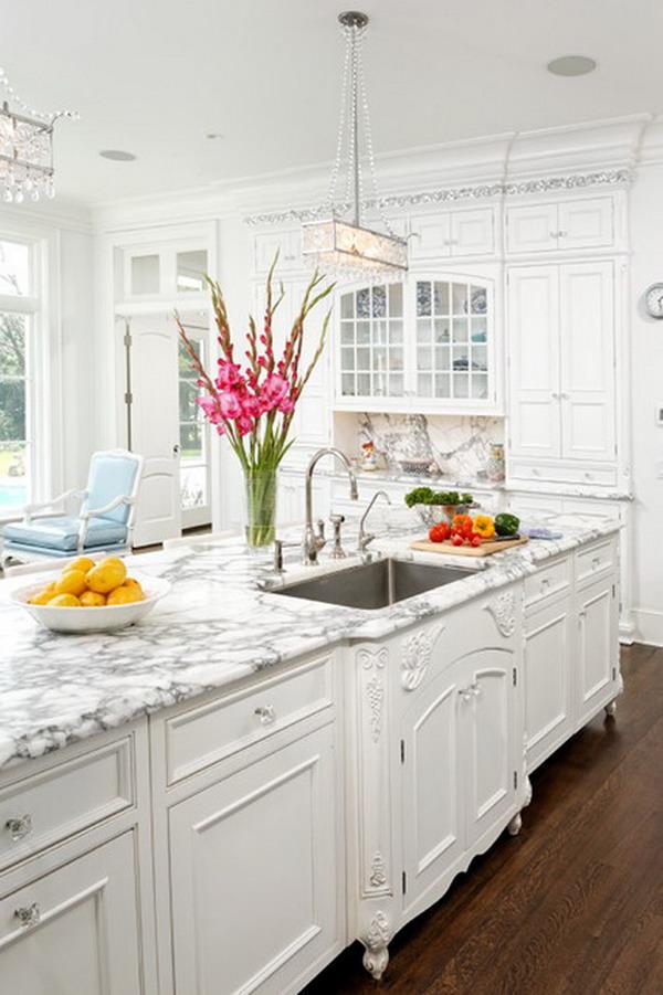 50 beautiful white kitchen interior designs for for White kitchen designs 2013