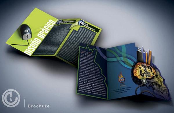 50 beautiful brochure layout designs hative for College brochure design ideas
