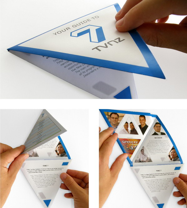 triangular folding brochure 3