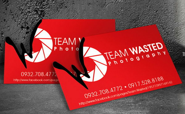 50 awesome photography business cards for inspiration hative team wasted business card reheart Choice Image