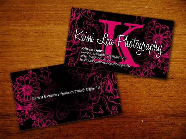 50 awesome photography business cards for inspiration hative krissi lea photography business card reheart Images