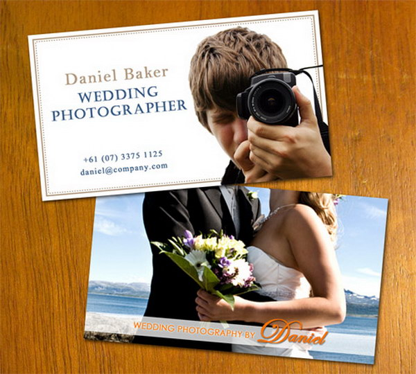 50 awesome photography business cards for inspiration hative wedding photo business card reheart Image collections