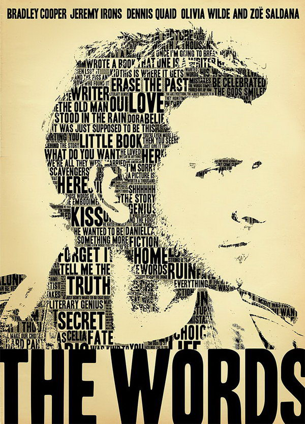 the words typography movie poster 21
