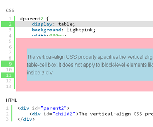 Css 10 resources to vertical align text in div hative - Vertical align text in div ...