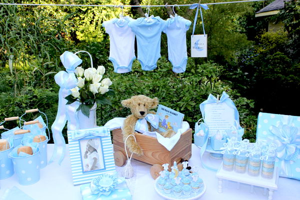 Blue Moon Baby Shower For Boy