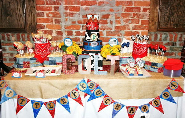 buckaroo baby shower decoration 24