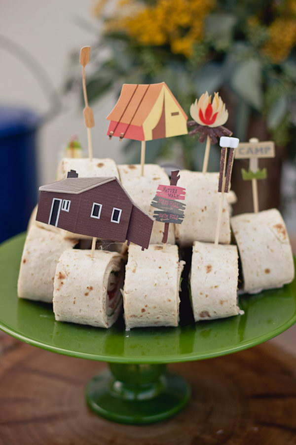 camping baby shower decoration idea 12