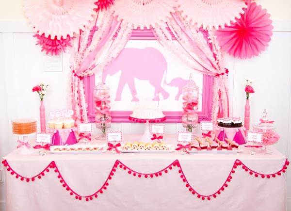 40 cute baby shower decoration ideas hative for Baby shower decoration themes for girls