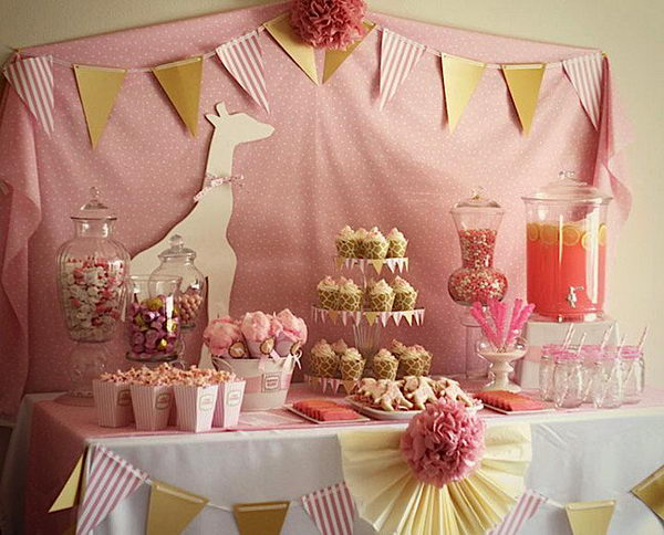 pink giraffe decoration idea 54
