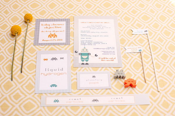 robot baby shower idea 3