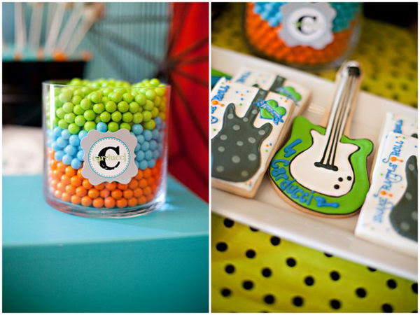 rock star baby shower for boy 43