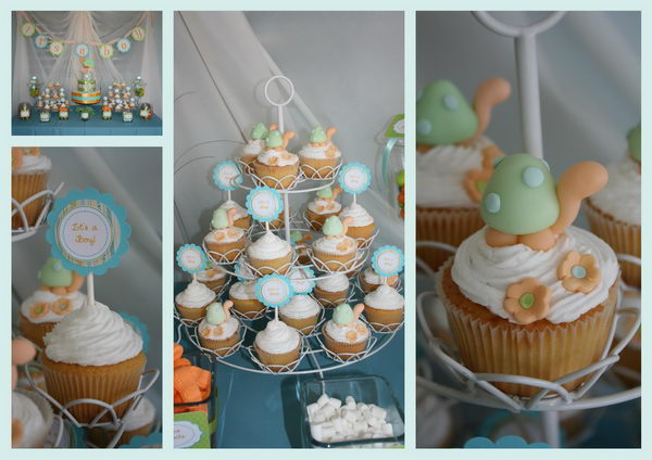 turtle boy baby shower decor 44