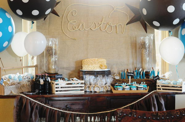 western cowboy baby shower party 5