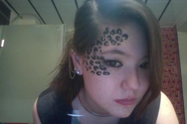 Leopard Print Tattoo Designs On Side