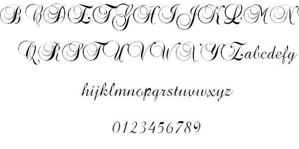 40 Free Cool Cursive Tattoo Fonts
