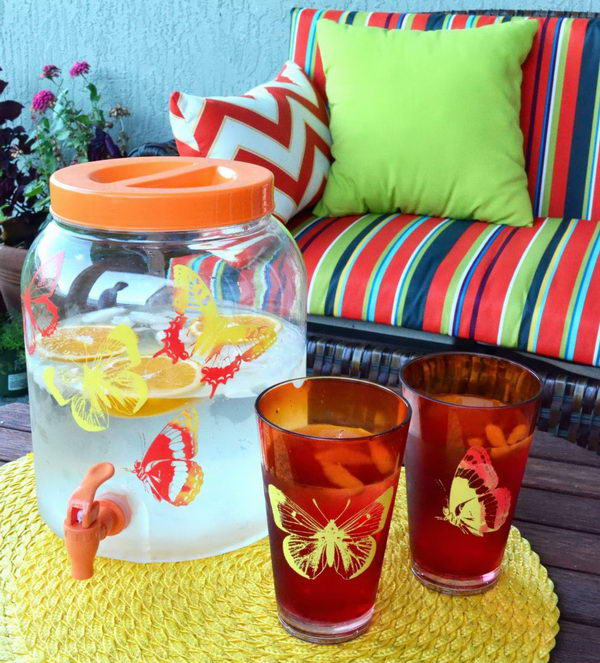 diy painted drink dispenser 31