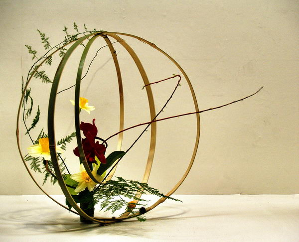 Ball Shape Japanese Flower Arrangement