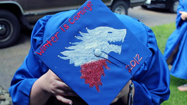 game of thrones graduation cap idea 44