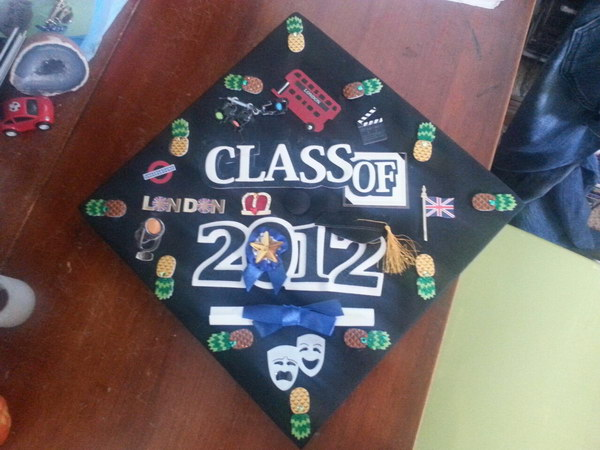 graduation cap decoration idea 49