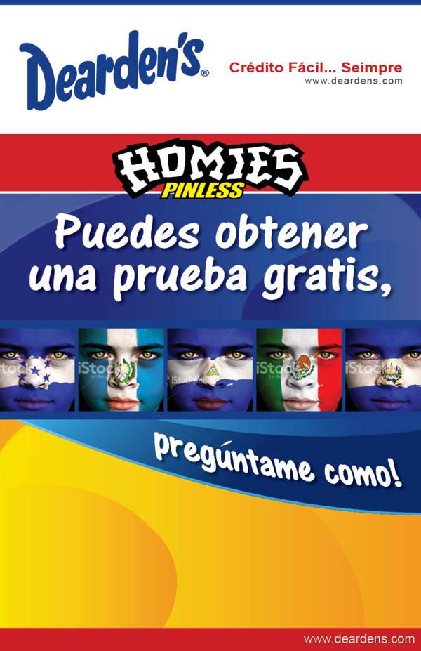 Homies Pinless Advertising Print Design