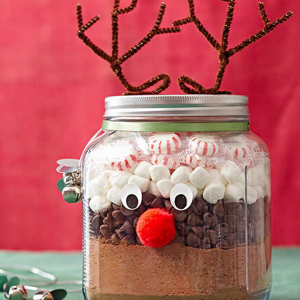 50 cute mason jar craft ideas hative for Easy crafts for christmas presents