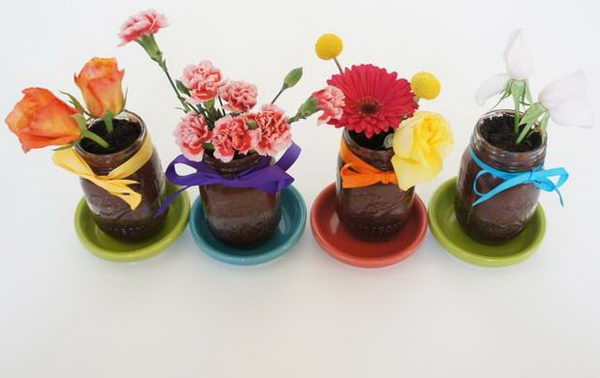 edible flower cakes mason jars 48