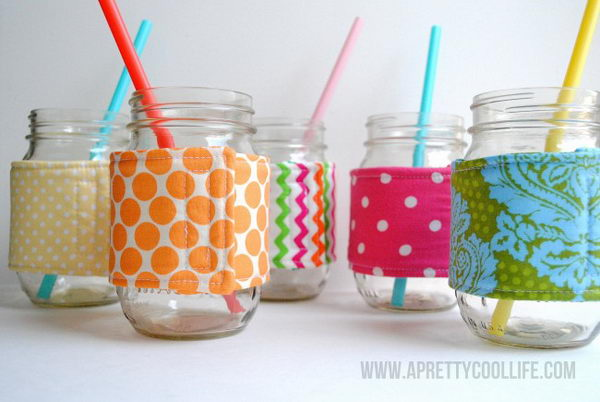fabric mason jar cozies 43