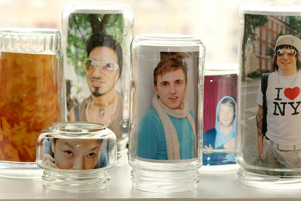 glass jar frames idea 26