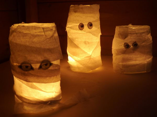 mason jar mummy halloween 20